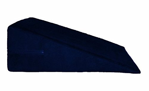 Moonrest Luxury Bed Wedge Pillow - Microsuede - Made in USA (12''H x 24''L x 24'', Navy Blue) by MoonRest