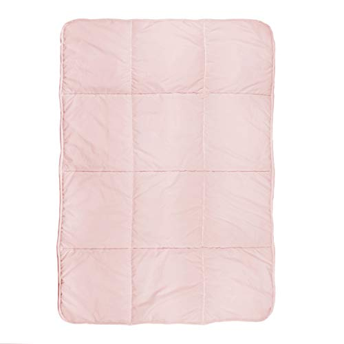 Tadpoles Quilted Toddler Comforter, Box Pattern, Pink