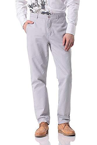 Colores Bolsillos Casuales Fashion Saoye Chinos Hombres Slim Con Sólidos Botón De Pantalones Ropa Para 7AwqxwCnS6