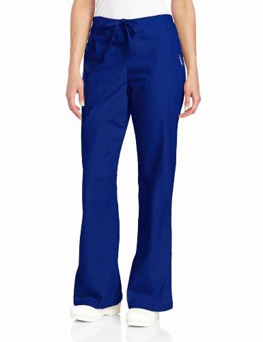 (Landau Women's Comfortable 2-Pocket Drawstring Flare Leg Scrub Pant, Galaxy Blue, 2X-Large)