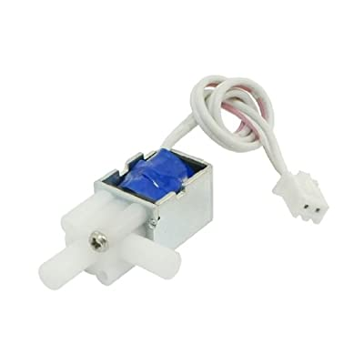 1mm 80g 2mm 20g 12V 1.6W Open Frame DC Water Solenoid Valve w Cables by uxcell