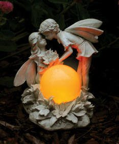 Kissing Fairies Solar Lamp in US - 1