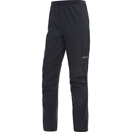 Gore Wear Men's Windproof Running Shorts, R3 WINDSTOPPER Zip-Off Pants, Size: L, Color Black, 100066 by Gore Wear