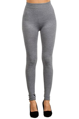 Simplicity Solid Color Women Layering Legging Pants Tights, Grey
