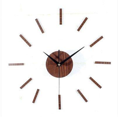 Bo @ DIY manera estilo minimalista retro desafiantes Campana Madera - Reloj de pared creativos DIY Relojes de Pared pegar, mahogany headlines: Amazon.es: ...