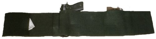 "Size Large Fits ""43 - 52 "" Waist Concealed Deluxe Belly Wrap for Small Medium and Large Frame Guns Holds Two Guns, Two Mags and Has a Concealed Money/wallet Pouch."