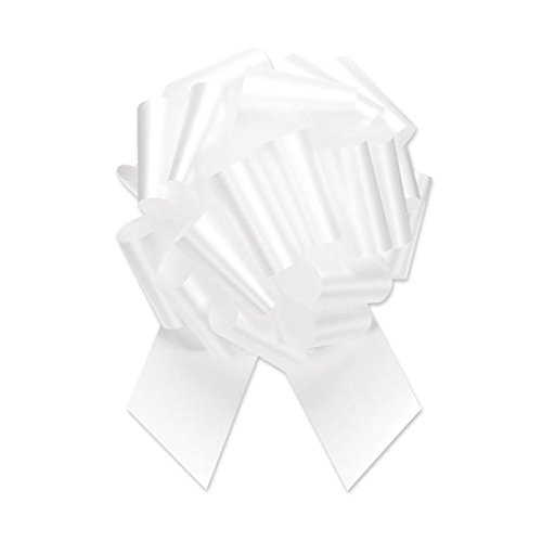 Berwick Offray the Perfect Bow Flora-Satin 5-1/2'' Diameter X 20 Loops, 1-7/16'' Wide Ribbon, White - Pack of 50 by Berwick