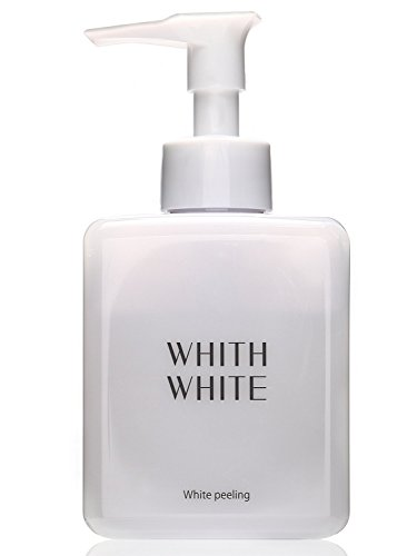 WHITH WHITE Skin Whitening Exfoliating Peeling Gel, Made in Japan 日本, Exfoliate Reduces Wrinkles Blotchiness and Darkness on Face and Body, Contains Hyaluronic Acid Collagen, 8.8 Ounce(250g) by WHITH WHITE