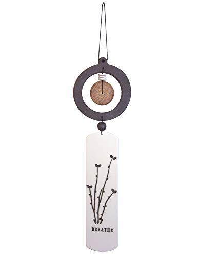 - Modern Artisans American Handmade Bare Earth Hanging Zen Totem, Indoor or Outdoor Ceramic, 13