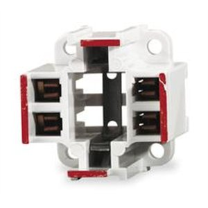 Leviton 26725-413 Fluorescent Lampholder, Compact, White
