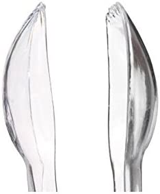 2 Packs of 4 Pieces FBA/_4386 Sugarman Candy Clear Plastic Tongs 6 1//2-Inch