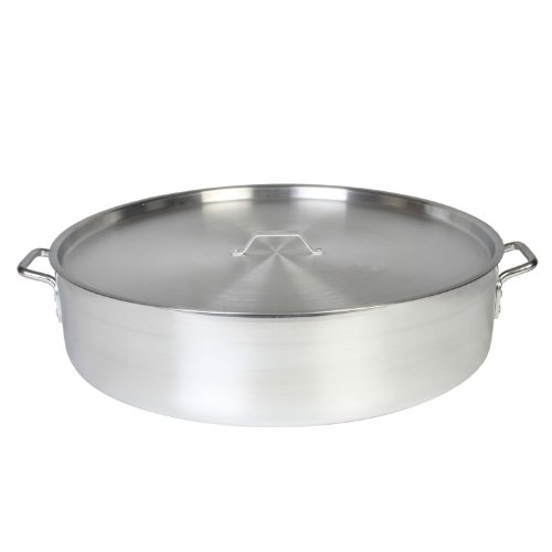 Thunder Group 40 Quart Aluminum Braiser with Lid by Thunder Group