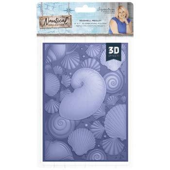 Sara Davies Nautical Signature Collection - 5x7 Embossing Folder - Shell Medley by Sara Davies Signature