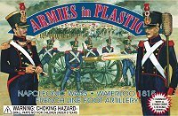 (Armies in Plastic Napoleonic Wars Waterloo 1815 French Line Foot Artillery Crew (5) w/Cannon 1-32 )