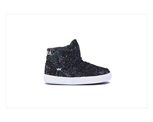 Supra Infants Vaider Black Sequin Shoes (Skateboarding Supra)