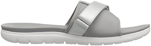 Grey Sandals Femme Bout Slide Silver Neoflex Fitflop Ouvert Soft wqSUB