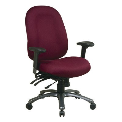 High-Back Office Chair with Seat Slider Fabric: Icon - Burgundy ()