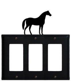 EGGG-68 Horse Triple GFI Electric Cover ()