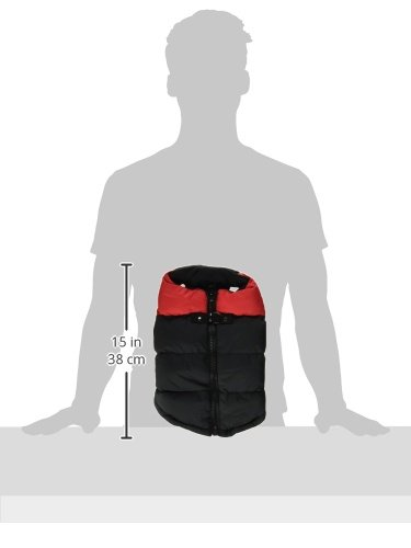 Gooby Padded Cold Weather Vest for Small Dogs with Safe Fur Guard Zipper Closure, Red, Medium by Gooby (Image #7)