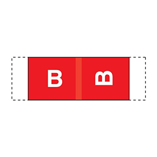 ed Labels- Letter B, Red, Col'R'Tab 11950 Compatible (Polylaminated, 500/Roll) (Storage Color Code)