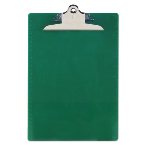 Hanging Green Board (Wholesale CASE of 25 - Saunders Recycled Plastic Clipboards-Antibacterial Clipboard,w/ Hanging Hole,1
