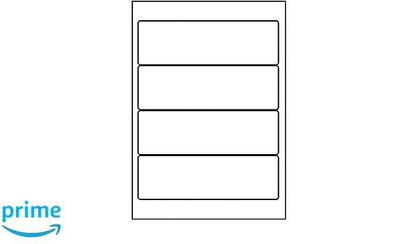 5 Star - Etiquetas para lomo de archivadores 192 x 61 mm, color blanco (400 unidades): Amazon.es: Oficina y papelería