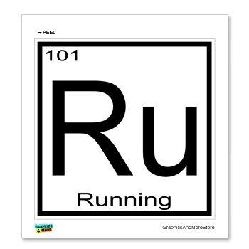 Running - Ru - Periodic Table - Window Bumper Locker Sticker