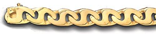 TEX 10K Solid Yellow Gold Heavy Handmade Link Men's Bracelet 8