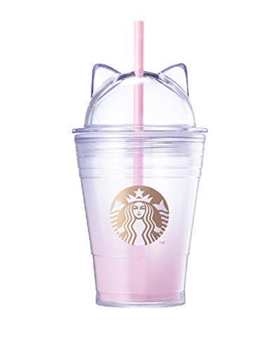 Starbucks 스타벅스 발렌타인2018 캣 lid 콜드 컵 355ml [해외 직송품]