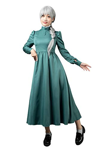 CosFantasy Sophie Hatter Cosplay Costume Green Dress mp004182 (Women ()