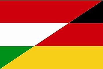 U24 Aufkleber Ungarn Deutschland Flagge Fahne 15 X 10 Cm Autoaufkleber Sticker Auto
