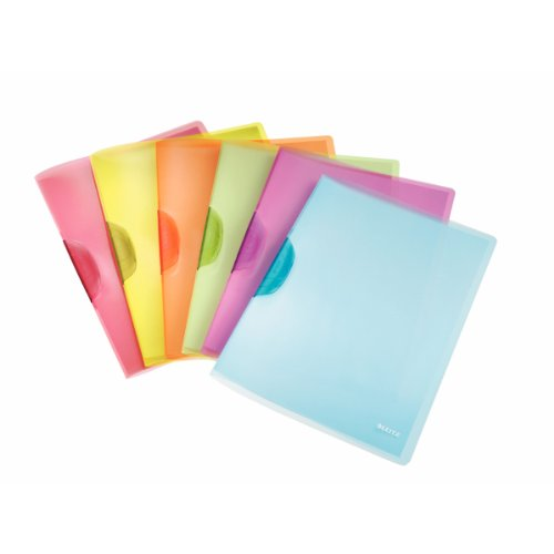 Esselte Leitz-Cartellina A4 con clip ColorClip Rainbow in plastica (diversi colori disponibili) 41760099