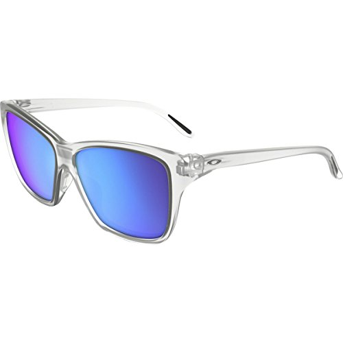 Oakley Mens Hold On Sunglasses, Matte Clear/Sapphire Iridium, One ()