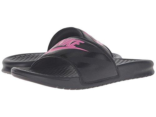 (ナイキ) NIKE レディースサンダル?靴 Benassi JDI Slide Black/Vivid Pink-Black 5 (22cm) B - Medium