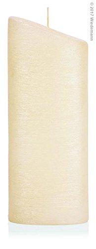 220 x 85 mm Formenkerze Ellipse Gro/ß Creme Perlmutt-Oberfl/äche Kerzen Rohling zum selber gestalten