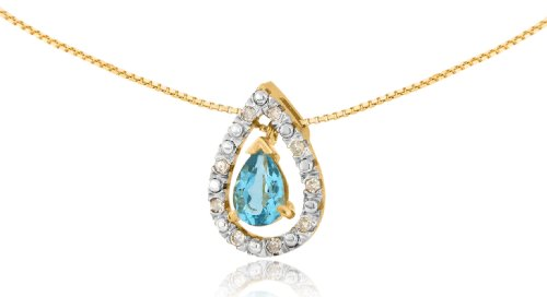 Carissima Gold - 1.61.994T - Collier Femme - Or jaune (9 cts) 2.1 Gr - Diamant - Topaze