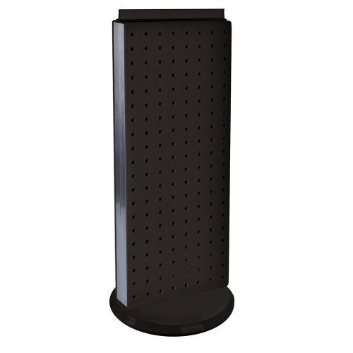 UPC 794504768732, Azar 700509-BLK Pegboard Two-Sided Non-Revolving Counter Display, Black Solid Color