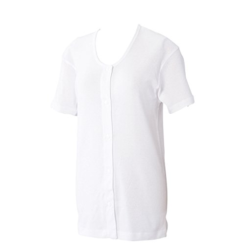 賃金優れました規制ワンタッチ肌着 婦人用 プラスチックホック式半袖前開きシャツ 2枚組 WL 43263
