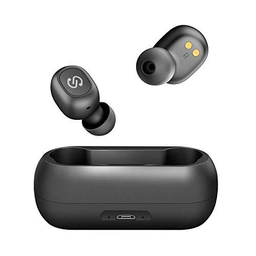 SoundPEATS TrueFree True Wireless Earbuds V5 0 Bluetooth Headphones with  Mic Wireless Earphones 15 Hrs Playtime, Hands-Free Calls, Auto Pairing