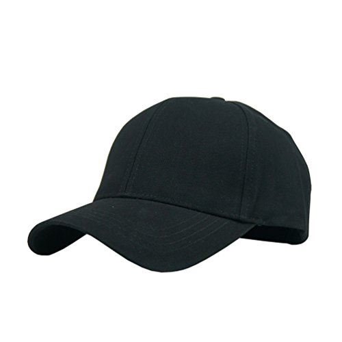d9c0212b100 JAMONT Unisex Cotton Adjustable Plain Hat Baseball Cap Multi Colors (black)