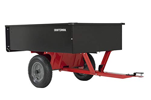 - Craftsman CMXGZBF7124355 12-cu ft Steel Tow Dump Cart, Black