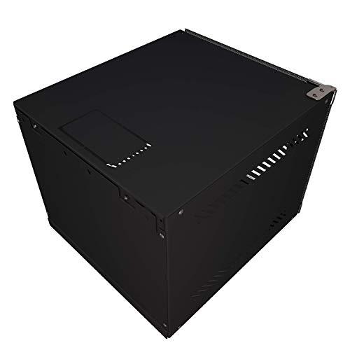 "Portable 10"" Network 4U -Tupavco TP1524- SOHO Floor/Wall Mount Inch Half-Rack -IT CCTV Media Server Door Secured"