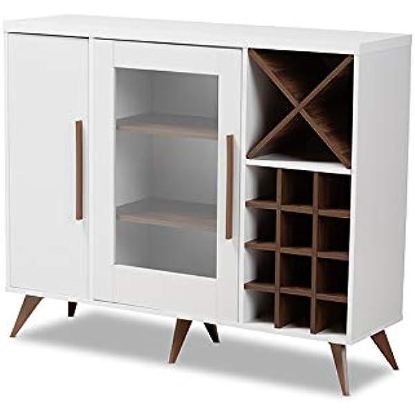 White//Grey Versanora Barra Wine Wooden Cabinet with Door