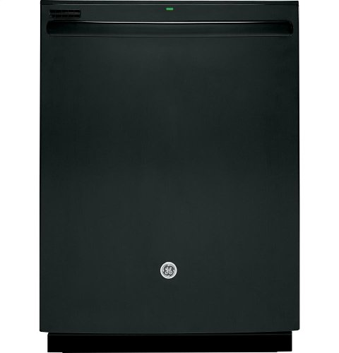 "GE 24"" Top Control Tall Tub Built-In Dishwasher Black GDT550HGDBB"