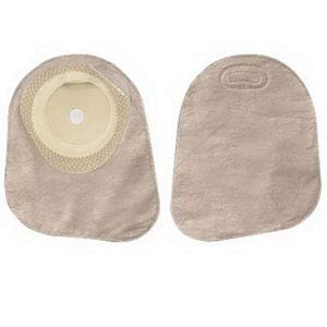 Hollister Premier One-Piece Closed-End Pouch with Integrated AF300 Filter, Pre-Cut Flat SoftFlex Skin Barrier and Two Sided ComfortWear Panel 1-3/16