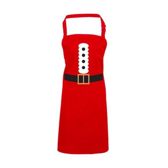 Batch1 Santa Claus Costume Festive Fun Novelty Father Christmas Chefs Apron