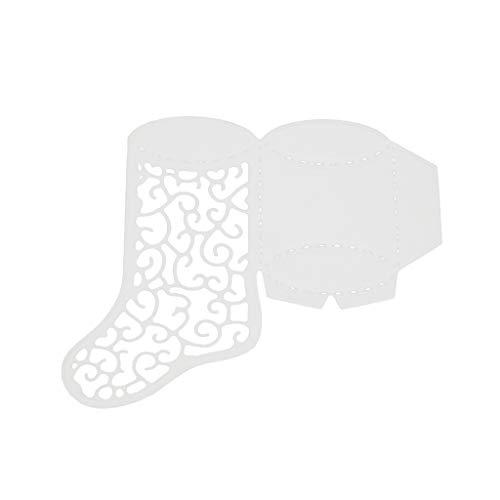 Dabixx Troqueles de Corte de Metal, Calcetines de Corte de Navidad Muere Plantilla de Corte Bricolaje Scrapbooking Tarjetas de Papel en Relieve decoración ...