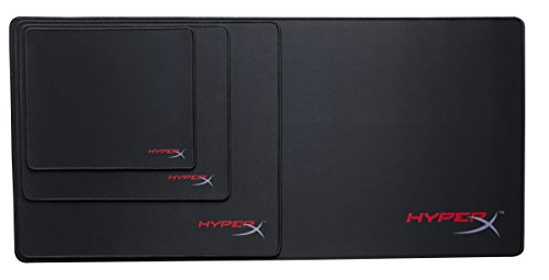 HyperX Fury S - Pro Gaming Mouse Pad, Cloth Surface Optimized for Precision, Stitched Anti-Fray Edges, X-Large 900x420x4mm (HX-MPFS-XL),Black