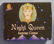 Night Queen Incense - Night Queen Cones - Kamini Incense - Box of 10