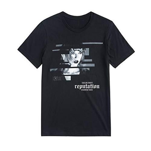 Taylor Swift Reputation Stadium Tour Tee Black Tour Tee with Block Design - Tee Black Tour